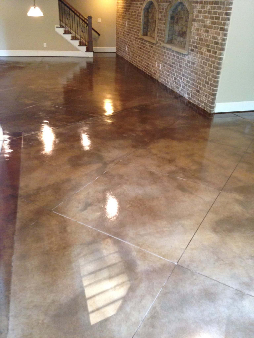 Concrete stone tile