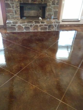Concrete polished tile