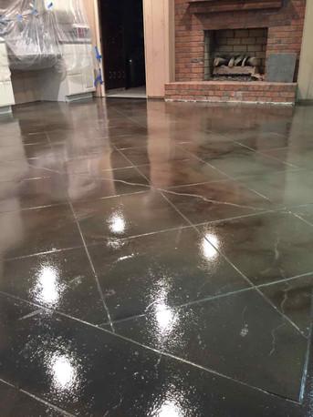 Concrete faux tile