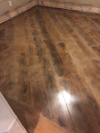 Concrete hardwood floor