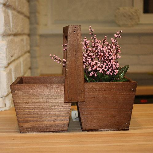 деревянный ящик для цветочных композиций