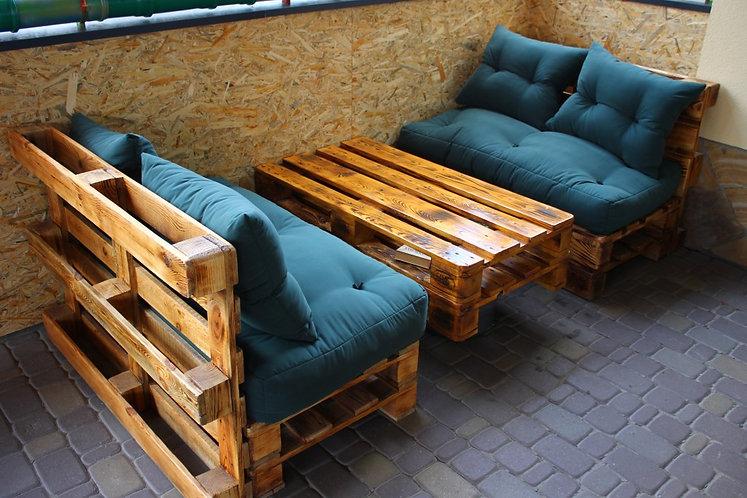 "Комплект мебели из паллет ""Дуэт"" /арт. MП-005/"