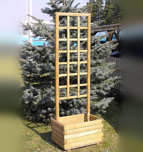 Шпалера с ящиком из дерева