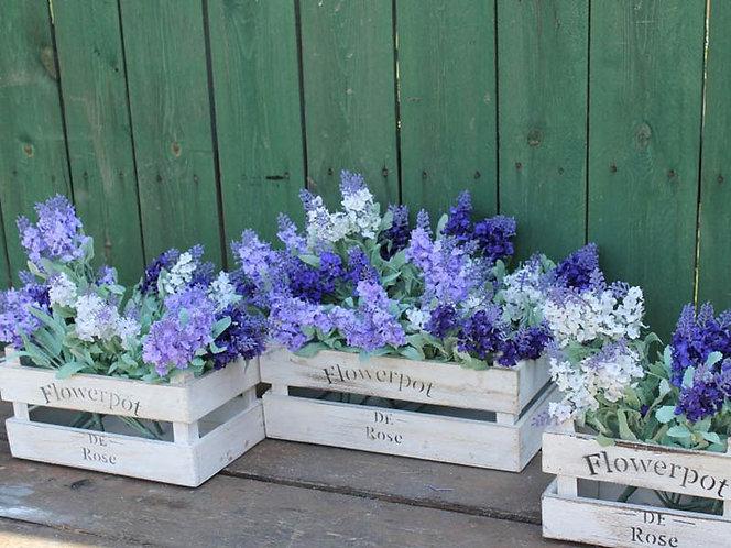 декоративные ящики для цветов из дерева