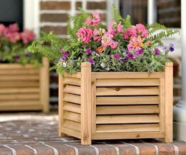 деревянные ящики кашпо для цветов