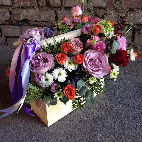 деревянный ящик на свадьбу