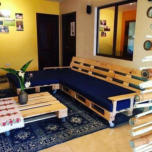 Комплект мобильной мебели из паллет для дома /арт. MП-015/