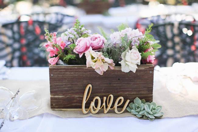 деревянный ящик для свадьбы