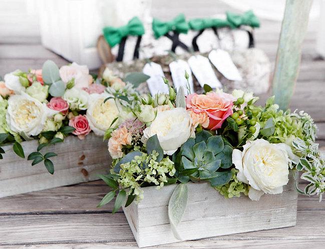 декоративные деревянные ящики для цветов