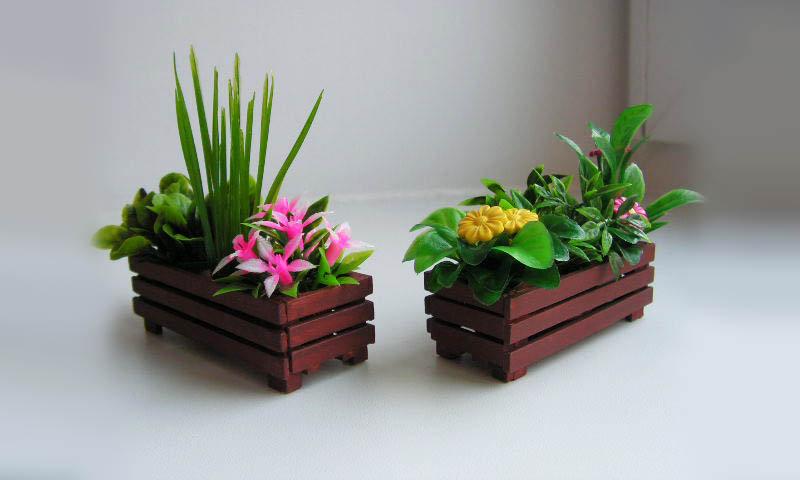 деревянные ящики для флористики