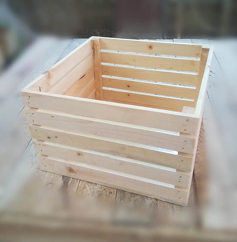 Деревянный ящик из реек