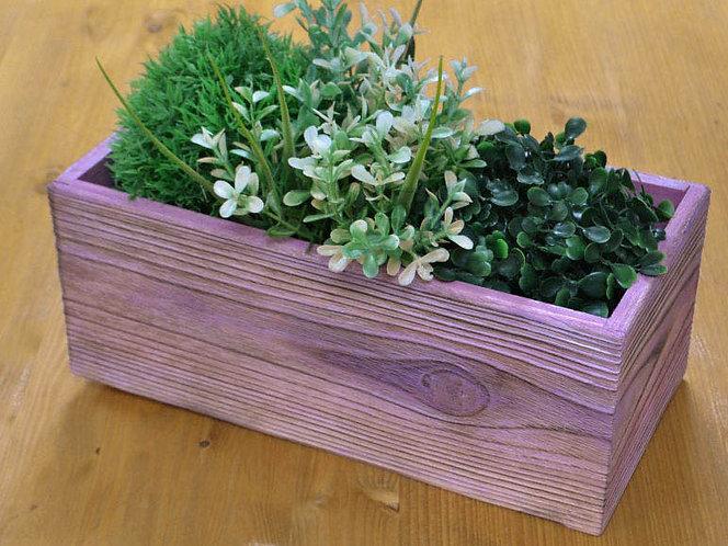 деревянный ящик цветной