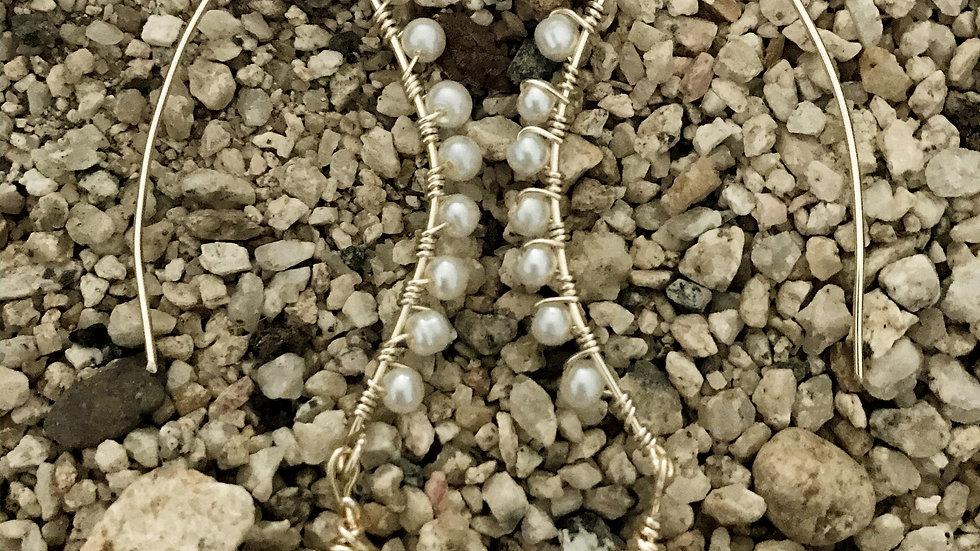 Perlas largo con gota