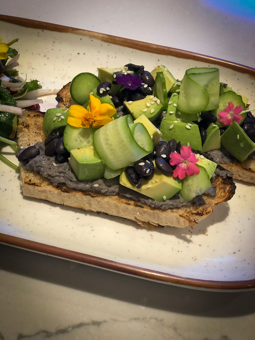 Vegan Plant Based Black Bean and Avocado Hummus