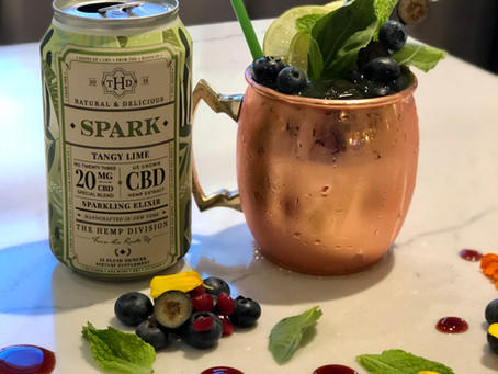 Blueberry & Tangy Lime Spark Moscow Mule