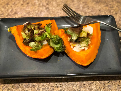 Roasted Kuri Squash & Brussels Sprouts