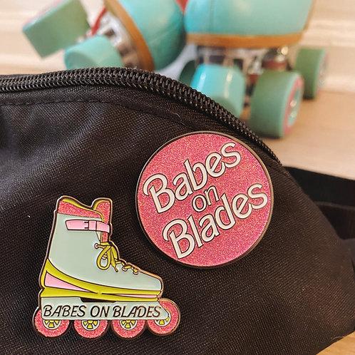 BABES ON BLADES PIN SET
