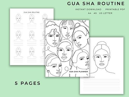 Gua Sha Planner | Printable | Digital PDF Download | Goodnotes Compatible