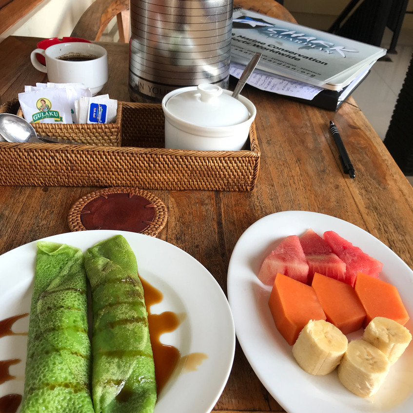 Breakfast in the homestay is almost always delicious!