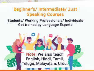 Learn Indian Languages from experts