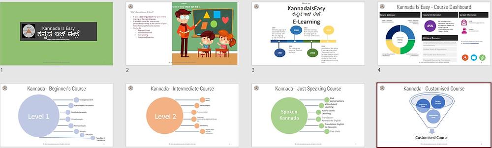 Kannada Language courses