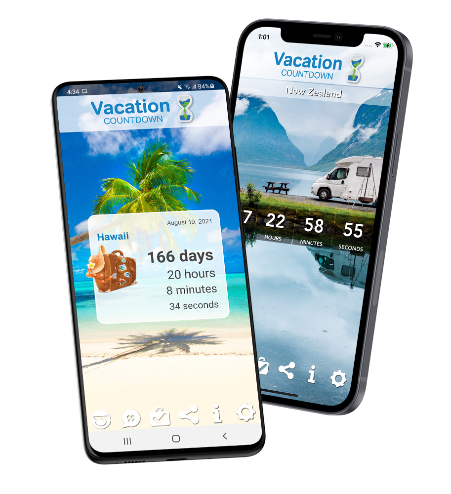 Vacation Countdown App   Best Mobile App for Travel 2021