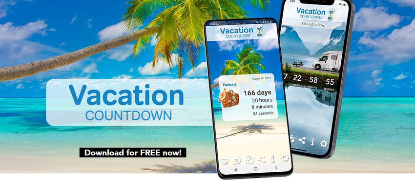 Travel in 2021 with the Vacation Countdown App
