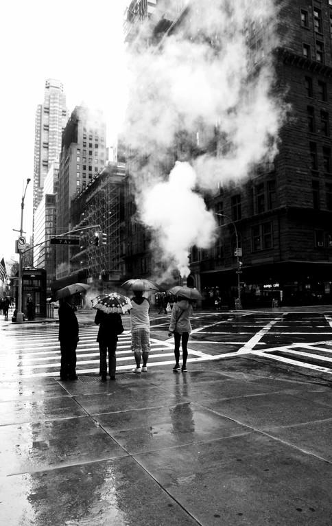 Black & White #13 - rainy day, NY