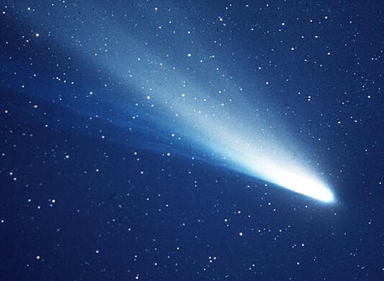 Cometa Halley. Imagen via NASA