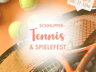 Schnupper-Tennis und Spielefest für die Kinder derGrundschuleDehrn