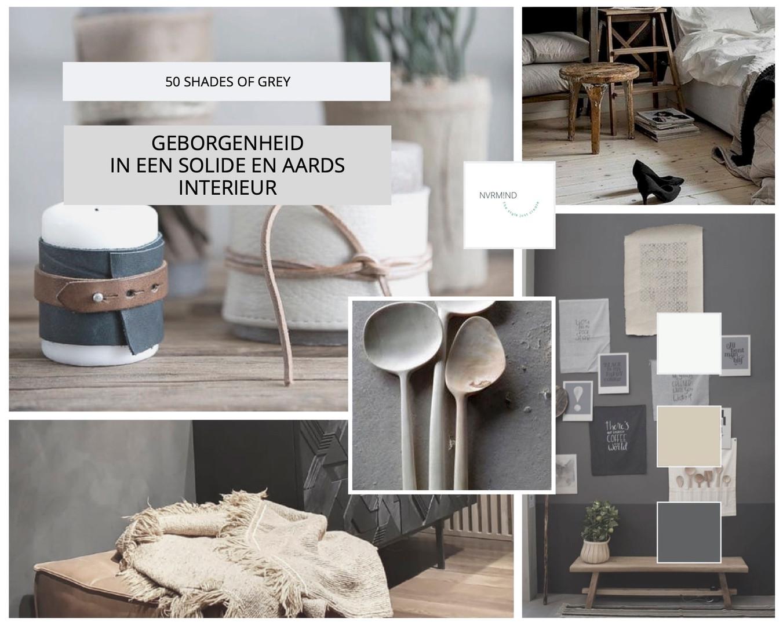 Moodboard '50 shades of grey'