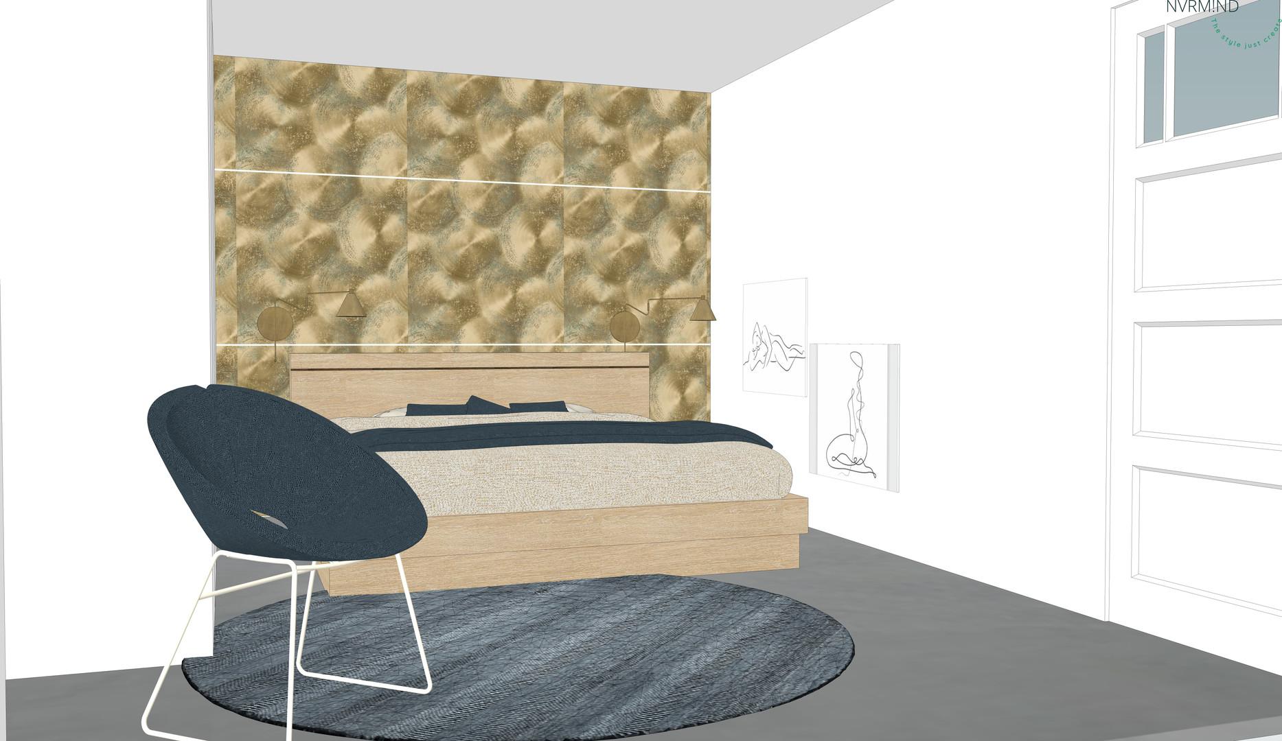 Spannend, sexy moderne slaapkamer