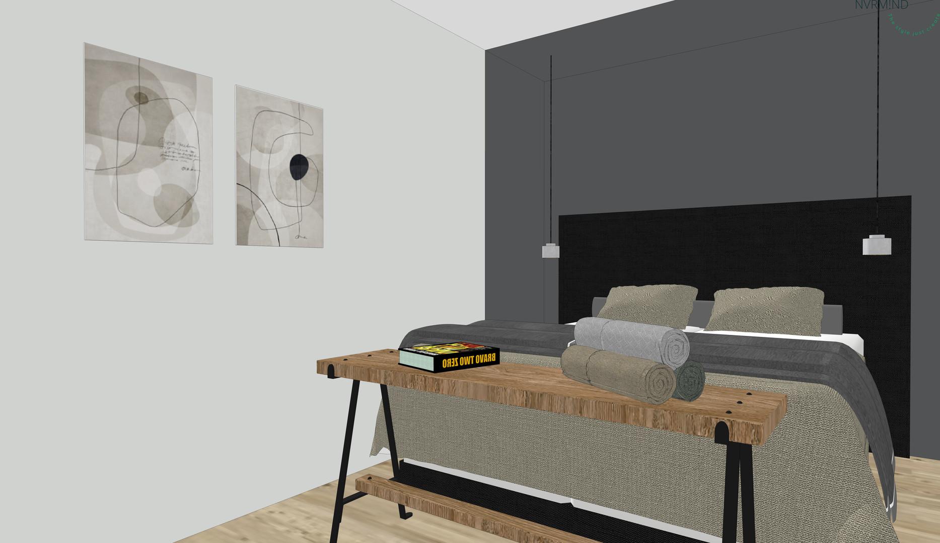 Slaapkamer 3D presentatie