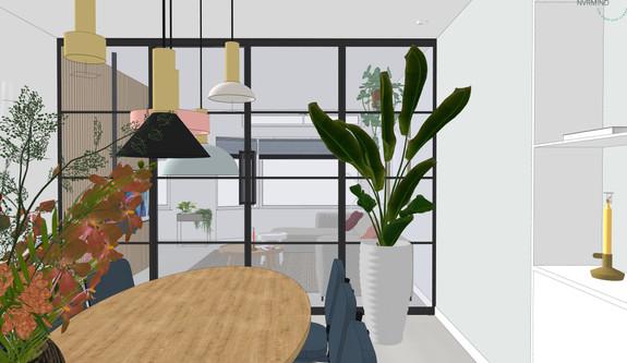 3D woonkamer