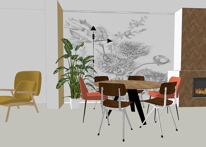 Interieurontwerp 3D woning Scandinavisch interieur
