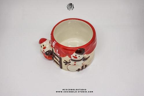 Snowman ceramic glass