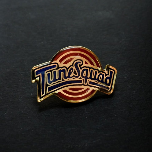 Tune Squad brass enamel pin