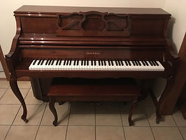 Charles R Walter Upright Console Piano French Provincial for Sale