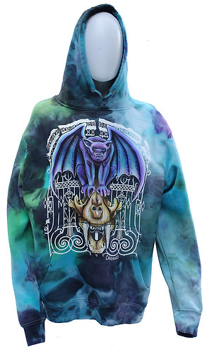 Gargoyle and Sabre tooth tiger pullover hoodie