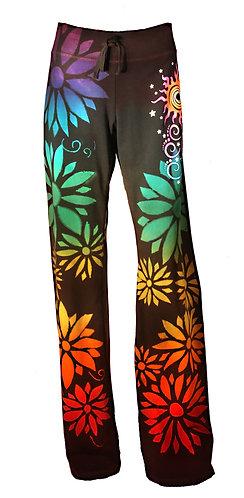 Flower reverse dye yoga pants