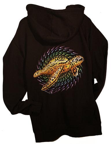 Golden Turtle Black zip up hoodie