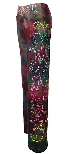 Star festival ice dyed yoga pants
