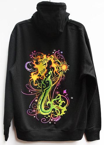 Mermaid Black zip up hoodie