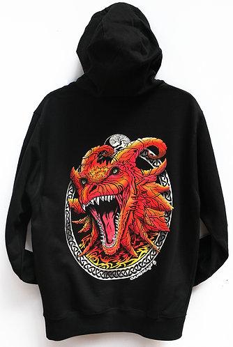 Smile Black zip up hoodie