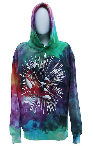 Orca Splash ice dyed pullover hoodie