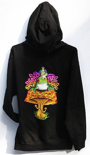 Frog Prince Black zip up hoodie
