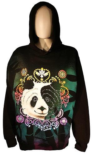 Ying Yang Panda reverse dye hoodie