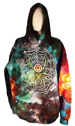 I-Spider ice dyed pullover hoodie