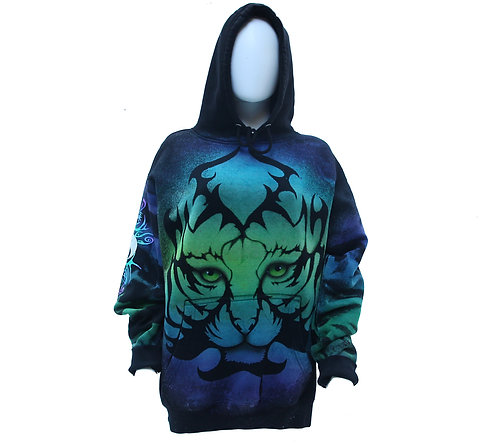 Tiger reverse dye pullover hoodie