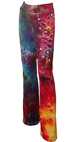 Ice dyed Lotus yoga pants